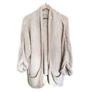 Maurices Women's Tan Oversized Knit Cardigan